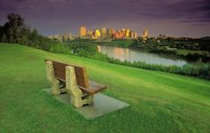 Beautiful shot of the downtown skyline in Edmonton, Alberta, Canada. Sit and relax. Great Places, Places To Go, Beautiful Places, Great Pictures, Cool Photos, Western Canada, Tourist Spots, Silhouette Art, Alberta Canada
