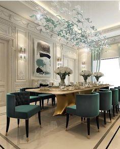 "483 Likes, 3 Comments - Interior Designs (@interior_deco_passion) on Instagram: ""Via ⚜️Jude Mordern Life⚜️ #beautiful #beautifulinterior #beautifuldecor #dinningroom #dinningarea…"""