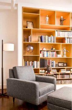 Wood Bookshelves, Bookshelf Design, Built In Bookcase, Tower Apartment, Living Room New York, Interior Design Work, Transitional House, Open Shelving, New Homes