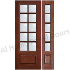 Solid Single Panel Door With Glass Hpd486 - Glass Panel Doors - Al ...
