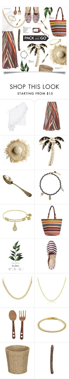 """""""Cuba: Rosie Assoulin"""" by greengoblinz ❤ liked on Polyvore featuring Rosie Assoulin, Chanel, Marc Jacobs, Billabong, Dolce&Gabbana, Mondevio, Improvements, Vera Bradley, polyvoreeditorial and RosieAssoulin"""