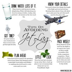 How to Avoid Jet Lag Graphic