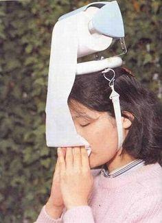 Head Mounted Toilet Paper Dispenser  25 Most Useless Inventions Ever Ahahahahahahahahahahahahahahahahahahahahahahaha!!!!!!! @Lenexa M LOOOOK!