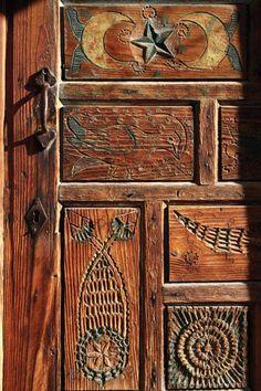 Detail of historical door, Çomakdağ / Mugla, Turkey.
