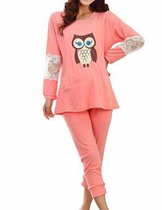 VENTELAN Women's Cartoon Cute Owl Lace Long Sleeve Pajamas Loungewear VENTELAN Pajamas http://www.amazon.com/dp/B00M3PCQN4/ref=cm_sw_r_pi_dp_6CEmub1CWZA86