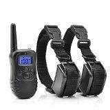 Petrainer 330 Yards Remote 4 in 1 LCD Rechargeable and Waterproof Pet Dog Training Collar with 100lvs Shock and Vibration for 2 Dogs  Get this product today at Back Creek Solution LLC