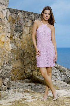 Vestido Halter Party Color Wear - Party Dress