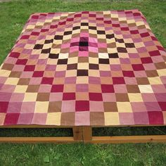 Velvet Sunshine and Shadows Patchwork Quilt by TheOccasionalPurl, £120.00