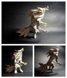 Finally I have my own werewolf origami. I would like to thank all the deviants who gave me lots of very useful suggestions in my recent journal entry I incorperated the hunchy back, huge mane, musc...