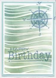 card wavy waves Memory Box Stencils - Wave - compass, Happy birthday stamp, nautical, ocean, sea, marine