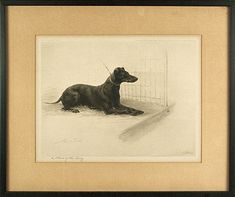 +manchester terrier art work | William Secord Gallery, inc. , A Slave of the Ring, Beadle, Maud Earl ...