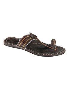 33aea1945ea828 eKolhapuri Dark brown color authentic handmade genuine leather kolhapuri ladies  sandal. eKolhapuri Womens Leather Handmade Kolhapuri Sandals 10 US ...