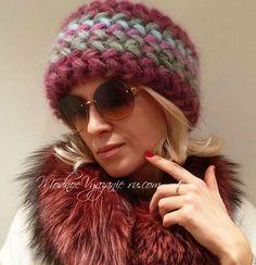 Шапка крючком узором колоски пышными столбиками - Crochet - Modnoe Vyazanie Puff Stitch Crochet, Diy Crochet, Summer Hats, Winter Hats, Panama Hat Women, Knitted Hats, Crochet Hats, Lana, Needlework