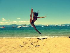 Tilt leap❤️ what i love, dance Love Dance, Dance With You, Dance Pictures, Beach Pictures, Cheer Pictures, Beach Pics, Summer Pictures, Beach Fun, Senior Pictures