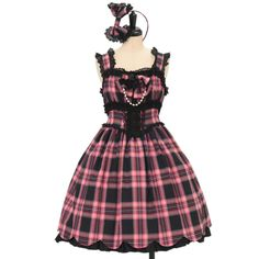 ♡ Angelic pretty ♡ Original tartan Scallop Princess jumper skirt & headband http://www.wunderwelt.jp/products/detail10352.html ☆ ·.. · ° ☆ How to order ☆ ·.. · ° ☆ http://www.wunderwelt.jp/user_data/shoppingguide-eng ☆ ·.. · ☆ Japanese Vintage Lolita clothing shop Wunderwelt ☆ ·.. · ☆