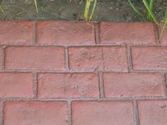 Stamp your own brick walkway.  Decorative Concrete Cement Stamp Mat $75
