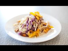 What To Eat Wednesday with Spork Foods - Vegan Jerk Coleslaw with Plantain Strips Recipe Decadent Food, Vegan Vegetarian, Vegan Food, Grubs, Coleslaw, Lentils, Healthy Life, Cabbage, Vegan Recipes