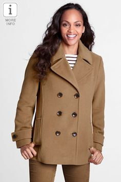 Fashion Deal of the Day: Lands' End Pea Coat http://momgenerations.com/2013/04/fashion-deal-of-the-day-lands-end-womens-regular-luxe-wool-pea-coat/
