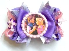 Rapunzel Hair Bows Clips Ties Headbands by SweetandCuteBows, $8.00