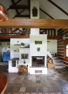 Trendy Home Renovation Fireplace Woods Ideas Earth Bag Homes, A Frame House Plans, Kitchen Stove, Trendy Home, Bars For Home, Rustic Kitchen, Design Case, Home Renovation, Sweet Home