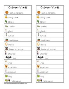 Writing Center Word Lists
