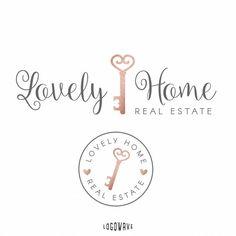 Home Key Logo. Premade Realty Logo by Logowave on Etsy Real Estate Branding, Real Estate Logo, Real Estate Business, Real Estate Marketing, Realtor Business Cards, Real Estate Gifts, Logo Real, Realtor Logo, Name Logo
