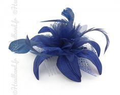 Peigne fleur bleue