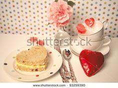 stock photo: hartvormige eiersalade sandwich