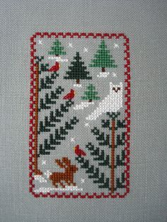 winter scene- Blue Ribbon Designs from Just Cross Stitch