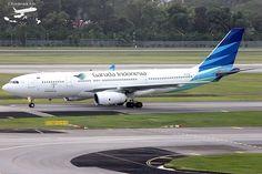PK-GPM #garudaindonesia #airplane #aircraft #aviation #plane #planespotter #planespotting #airbus #airbuslovers #a330 #a332 #changiairport #spottilludrop #black_fdz #2016iap #singapore (at Changi Airport)