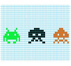 Stitch Games, Space Invaders, Old Games, Letters And Numbers, Perler Beads, Beading Patterns, Pixel Art, Cross Stitch Patterns, Mosaic