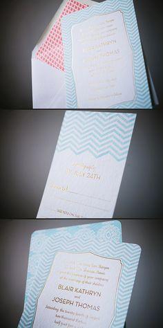 Elegant letterpress & foil stamped wedding invitations from Smock