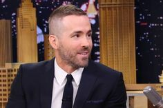 Ryan Reynolds New Hair On The Tonight Show In March 2015