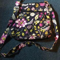 Vera Bradley bag Flower pattern long strap good condition.  Zipper close and side zipper compartment as well Vera Bradley Bags Crossbody Bags