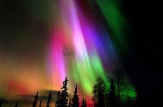 colorful aurora borealis over finland