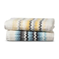 Threshold™ Watercolor Chevron Bath Towels