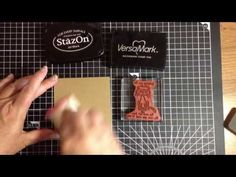 A quick tip showing how you can have any colour heat embossed image when using clear embossing powder, versamark and the ink of your choice