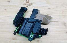 Excited to share this item from my #etsy shop: Fits Taurus G2C/PT111 Olight BALDR mini Baller holster Black Carbon Fiber and Zombie Green iwb aiwb Custom Holster USA Made RoyaliteHG