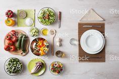 Здоровые вегетарианское блюда Стоковые фото Стоковая фотография