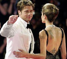 Brad Pitt and Angelina Jolie - Backless Dress