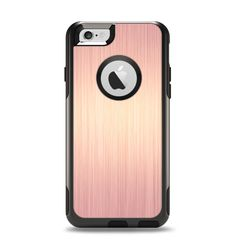 The Rose Gold Brushed Surface Apple iPhone 6 Otterbox Commuter Case Skin Set