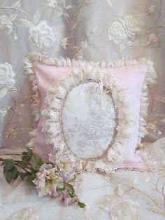 #Lace Pillow #Shabby #Romantic Bedroom - by; A N G E L A L A C E