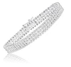 2 Carat Diamond Tennis Bracelet in Sterling Silver