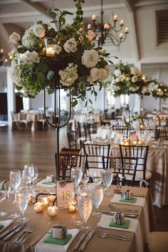 Navy and white with touches of spring green made this wedding at @Rivercourse at the @kiclublife a winner!