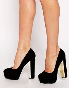 Enlarge ALDO Vedronza Black Platform Heeled Shoes...LOOOOOOOOOVE THESE!