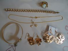 A mix of gold jewelry