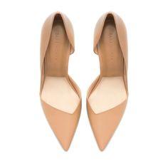 PALA TALÓN ASIMÉTRICO PIEL - Zapatos - Mujer - Nueva Colección | ZARA Estados Unidos
