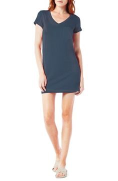 Free shipping and returns on Michael Stars V-Neck Jersey Minidress at Nordstrom.com. A slip-on-and-go T-shirt dress in a thigh-high cut of soft and stretchy jersey also makes a great swim cover-up.
