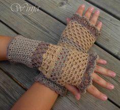 Crochet fingerless gloves, crochet mittens, autumn gloves, fingerles mittens, hand knit fingerles, arm warmers, boho mittens, knitted gloves - pinned by pin4etsy.com