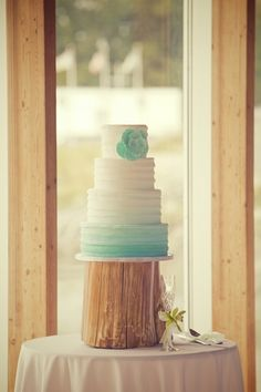 Beach Wedding Cake Ombre